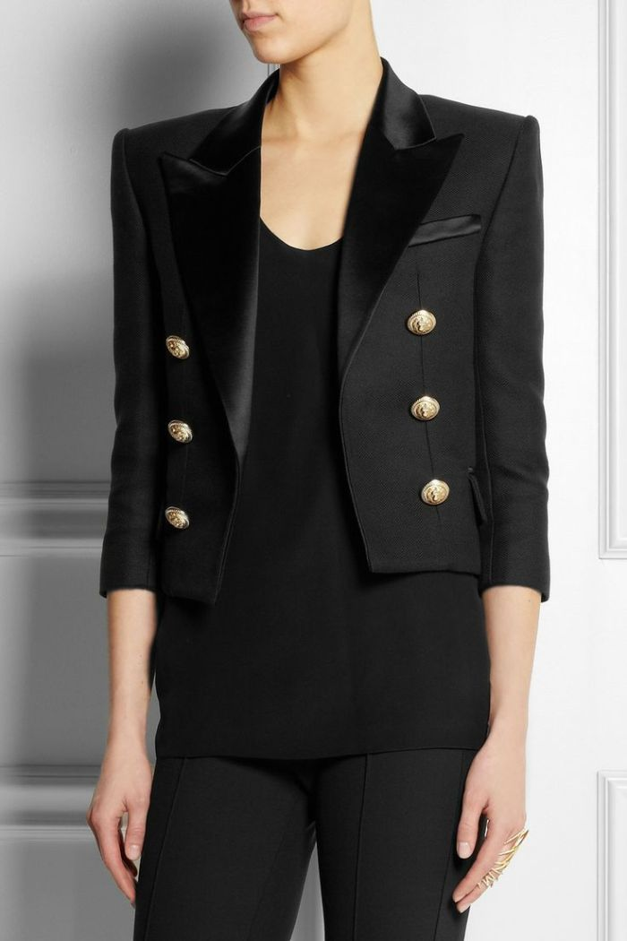 Cotton and silk-blend piqué tuxedo jacket