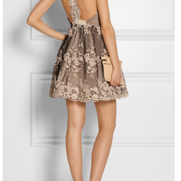 ALICE + OLIVIA Beatrice Embellished tulle dress
