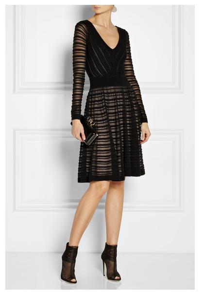 TEMPERLEY LONDON Daisy Ribbon merino wool-blend dress