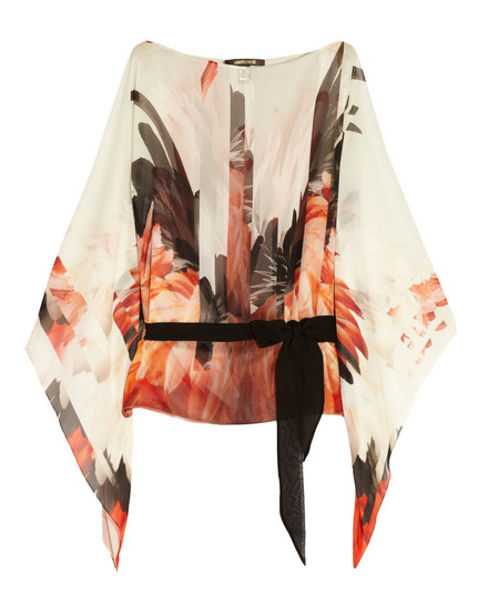Roberto Cavalli, Flamingo Silk top