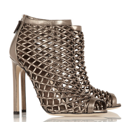 GUCCI Woven metallic sandals