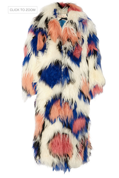 MARNI Oversized shearling coat